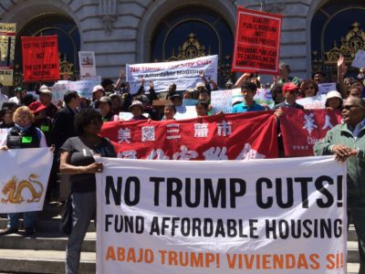 HUD cuts protested