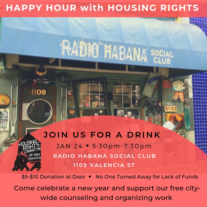 Join our Happy Hour Fundraiser for Housing Rights!